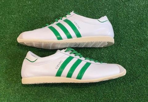 adidas Overdub Custom Celtic Trainers White  Size 9