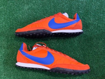 Nike Waffle Racer Retro Trainers Red and Blue  Size 9