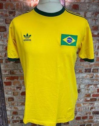 adidas Brazil 2006 World Cup T-Shirt Yellow SIze M