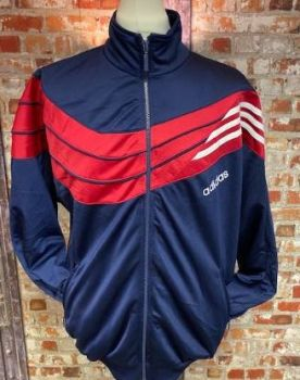 adidas 90's Vintage Track Jacket Navy, Red and White Size Large