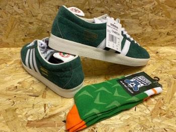 adidas Gazelle OG Custom Jack Charlton  Trainers Size 9 & Free Rep of Ireland Socks