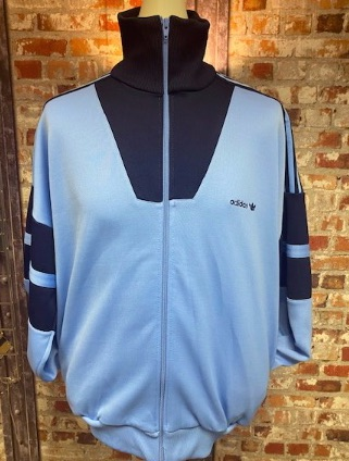 adidas Late 80's Vintage Track Jacket Sky and Navy Size XL