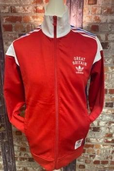 adidas Team GB Track Jacket Red, White and Blue Size Medium