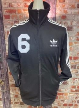 adidas Kaiser of New York Track Jacket Black and White Size Medium
