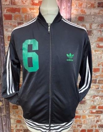 adidas Beckenbauer Tribute Track Jacket Black Size Medium