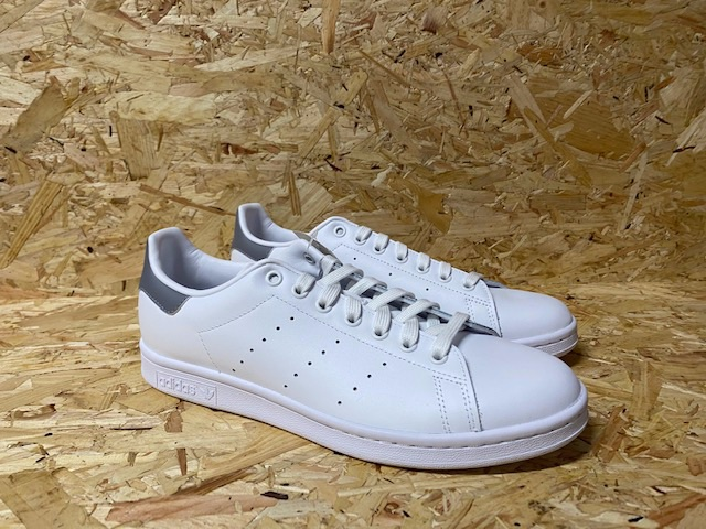 adidas Stan Smith White & Grey Leather Trainers Brand New Size 9