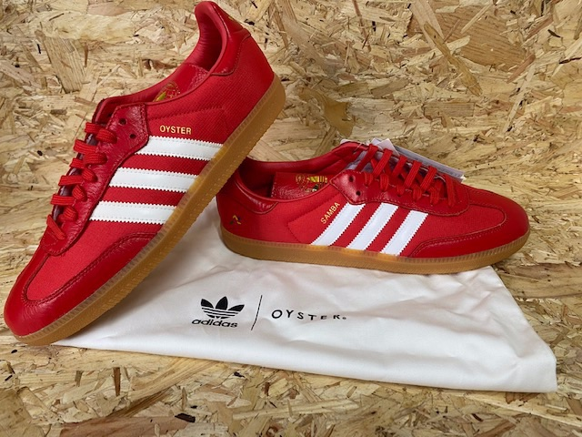 adidas Samba Oyster Consortium Trainers Red and White Size 9