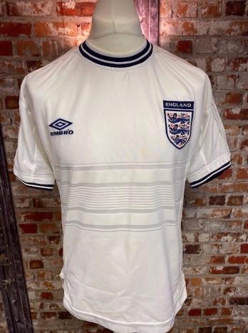 1999/00 Umbro England Home Shirt White Size Medium