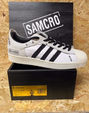 adidas Superstar Reverse x Sons of Anarchy Custom Trainers Size 10