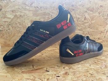 adidas Samba OG  Custom Negan Walking Dead Trainers  Size 9