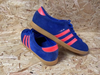 adidas Dublin 2003 Trainers Blue and Orange Size 9