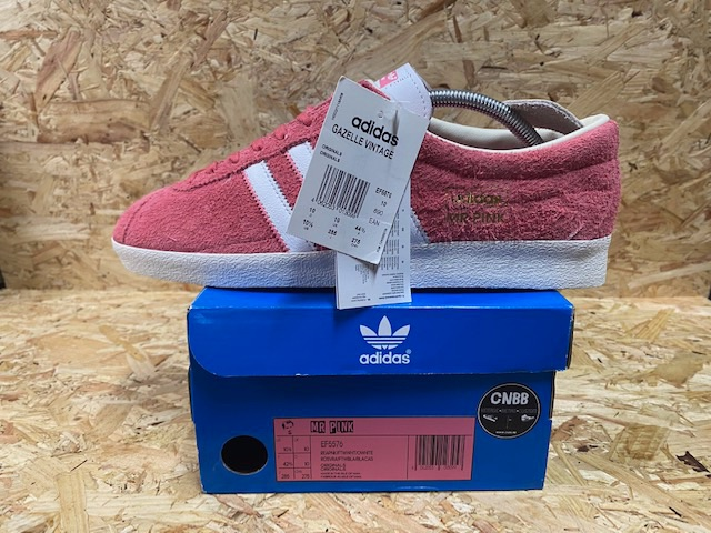 adidas Gazelle OG Custom Mr Pink Trainers Size 10 Pink and White