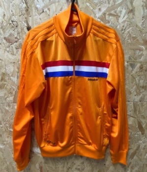 adidas Holland 1988 Tribute Track Jacket Orange Size Medium