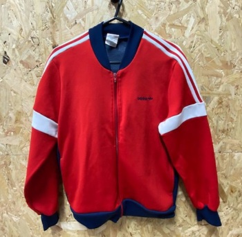 adidas Ventex 1970's Korean Release Track Jacket Red and Navy SIze Small