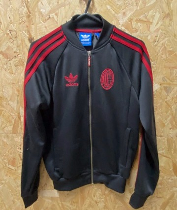 adidas Originals AC Milan Track Jacket Black and Red Size XS
