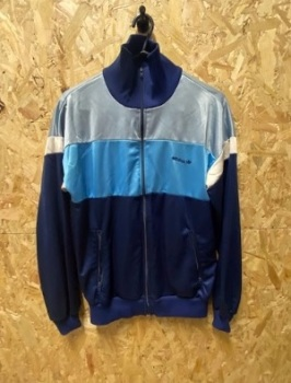 adidas Late 80's Vintage Track Jacket Blue Size Small