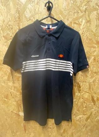 Ellesse Men's Slim Fit Polo Shirt Navy and White Size Medium