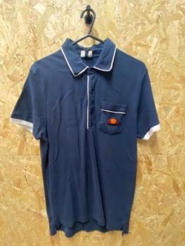 Ellesse Vanni Retro Polo Shirt Navy & White Size Medium