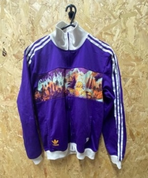 adidas Originals La Lakers 2010 Track Jacket Purple & White Size Medium