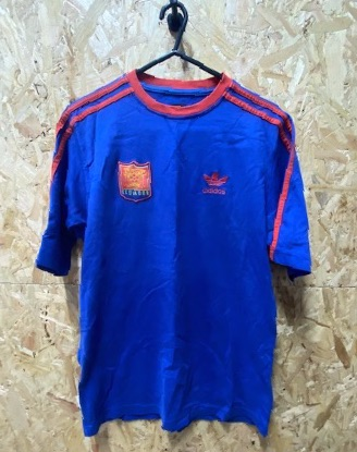 adidas Ecuador California T-Shirt Blue & Red Size Small
