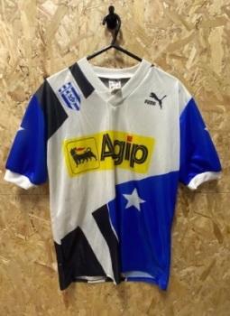 FC Lausanne 1991/92 Puma Home Shirt White, Blue and Black Size Medium