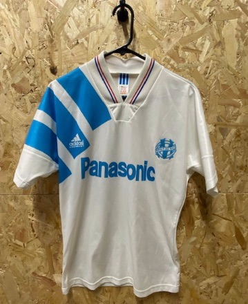 1992/93 adidas Olympic Marseille Home Shirt Size Small