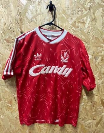 1989/91   Liverpool adidas Home Shirt Red Size Medium Mens