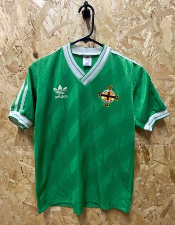 1986/88 adidas Northern Ireland Home Shirt Size  Medium