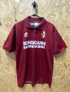 1994/95 Lotto Torino Home Shirt Maroon  Size Large