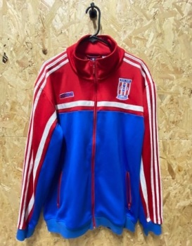 adidas Puerto Rico Vintage Track Jacket Red. Blue and White Size XXL Mens