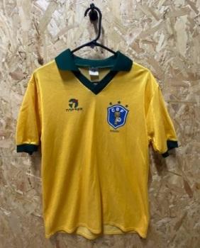 1985/88 Topper Brazil Home Shirt Size Medium