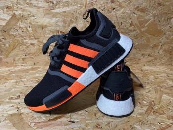 adidas NMD R1 Trainers Black and Orange Size 8.5 UK
