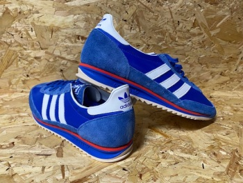 adidas SL72 2019 Blue , White and Red Retro Trainers Size 8.5 UK