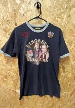 Ringspun Allstars Only Fools & Horses  T-Shirt Black and Grey Size Medium