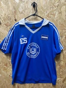adidas Originals El Salvador Retro Home Shirt Blue and White Size XL