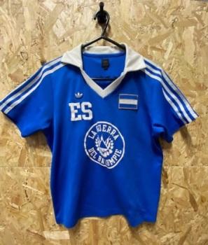 adidas Originals El Salvador Retro Home Shirt Blue and White Size Small