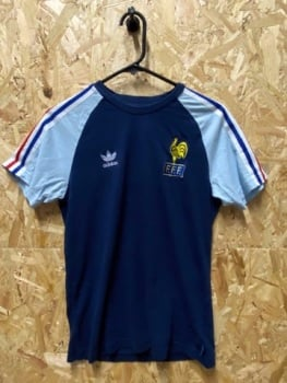adidas Originals France 2010 World Cup T-Shirt Navy and Sky Size Small