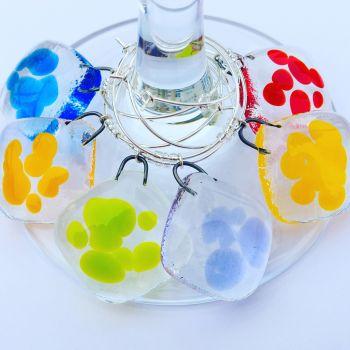 Rainbow Glass Charms