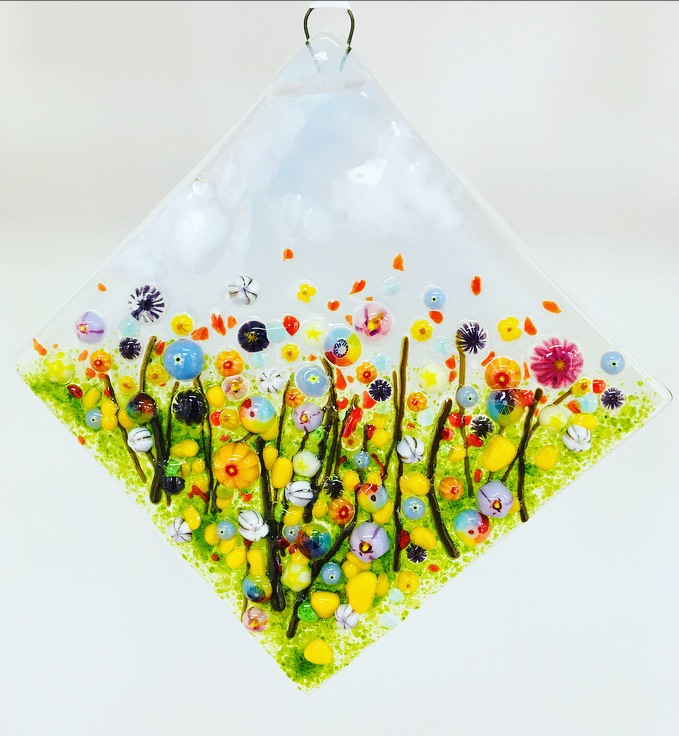 Hanging  fused glass
