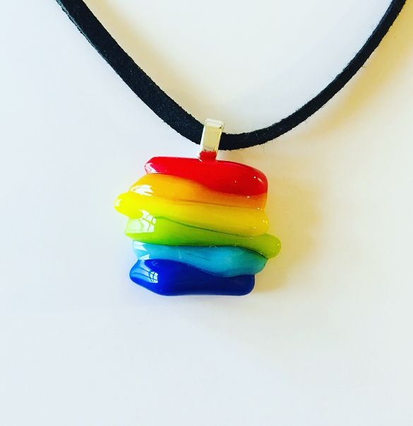 Rainbow stripe necklace