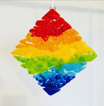 Bold opal rainbow