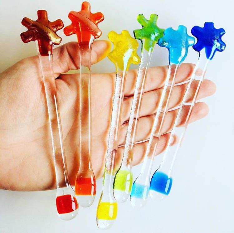 Rainbow star Swizzle Sticks - set of 6