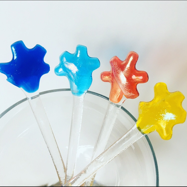 Star Swizzle Sticks - set of 4