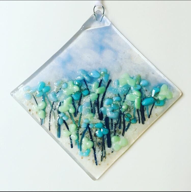 Blue flower meadow