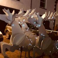 Reindeer - plywood, steel