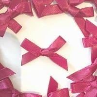 Mini Satin Fabric 7mm Ribbon Bows - Burgundy
