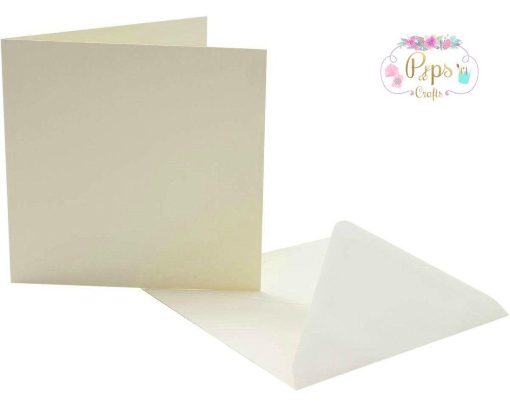 Large Square Ivory Card Blanks & Envelopes