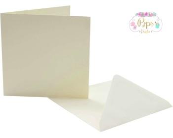 5 x 5 Square Ivory Card Blanks & Envelopes