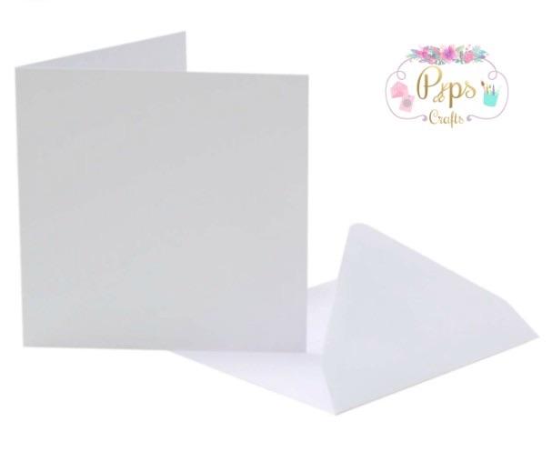 Square White Card Blanks & Envelopes 5 x 5