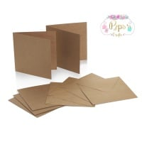 5 x 5 Square Kraft Card Blanks & Envelopes